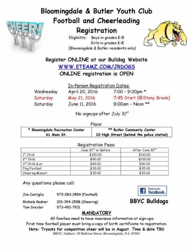 Announcements Borough Of Bloomingdale