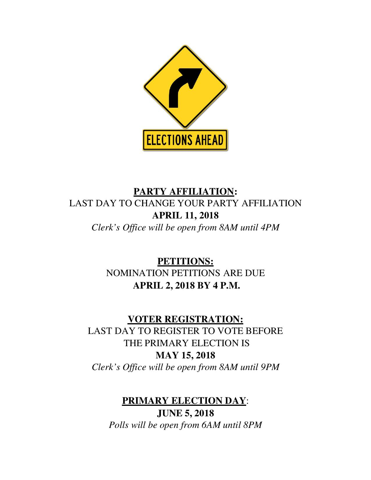 Primary election dates in Brisbane